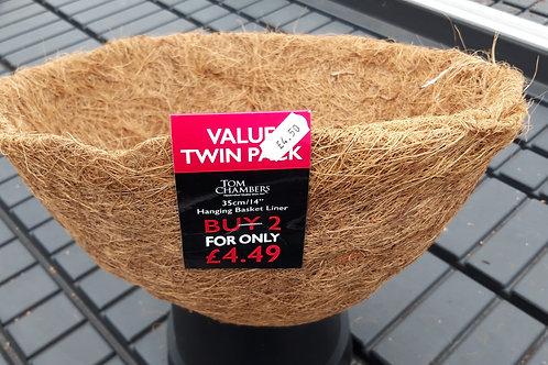 "14"" 35cm Twin Pack CocoFibre Basket Liner"