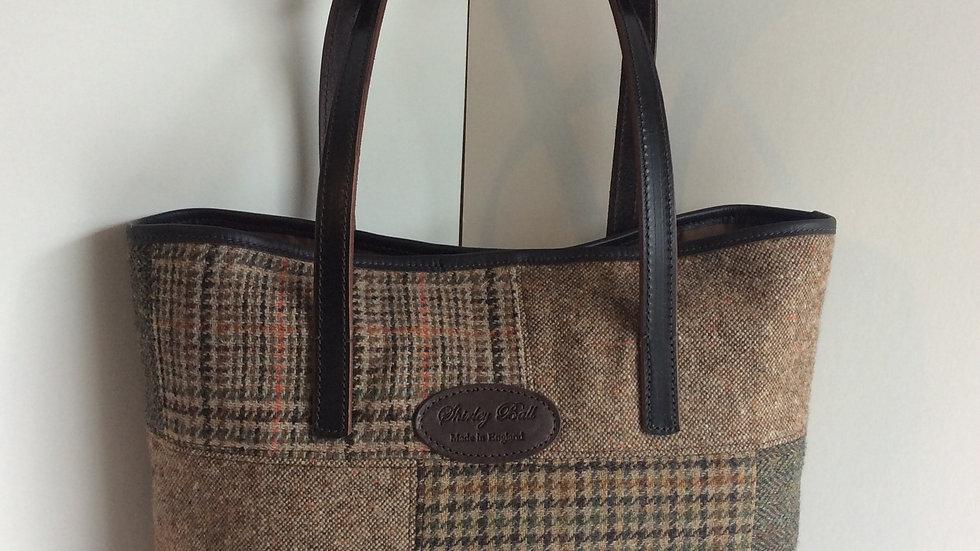 Patchwork Harris Tweed Tote Bag