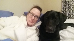 Are black labs all just emotional and clingy_ Is it like their thing_