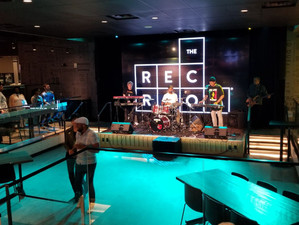 The Rec Room stage before the gig