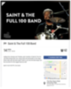 Saint and the Full 100 Band playing at The Rec Room April 14, 2018