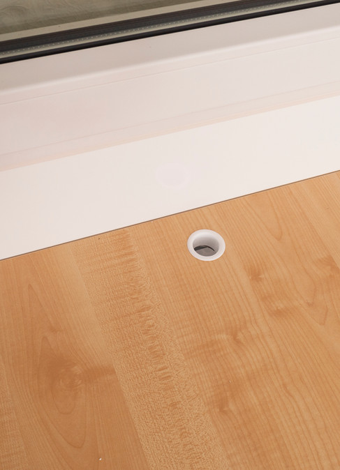 Holes in table for better airflow from t
