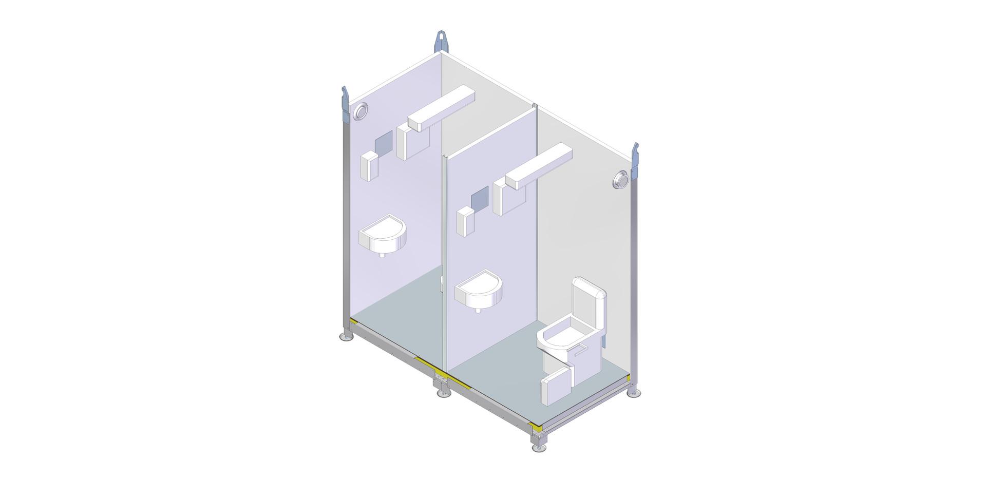 13188 Kabiin WC Respo 2x keraamiline V1