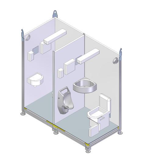 Kabiin WC Respo 2x keraamiline V1 Spec1