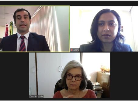 Defensor geral participa de reunião virtual com ministra do STF