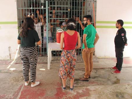 Defensores públicos inspecionam presídio de Coari e prestam atendimento jurídico a detentos
