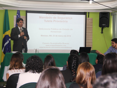 Doutor em Código de Processo Civil ministra aula na Defensoria Pública do Estado do Amazonas