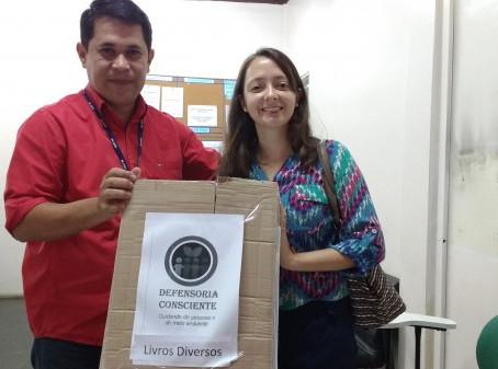"""Centros socioeducativos e ESAP recebem doações do projeto """"Defensoria Consciente"""""""