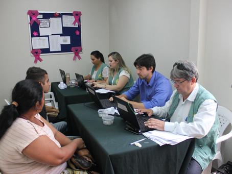 Mulheres vítimas de violência são atendidas em ação da Defensoria Pública do Amazonas, no bairro Cid