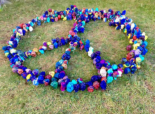 13) Peace piece  installation at WPUcamp