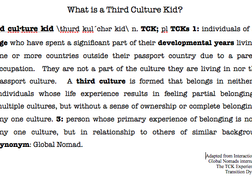 Who are Third Culture Kids (TCKs)?