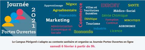 Université Bordeaux en Dordogne JPO en ligne le 06+/02