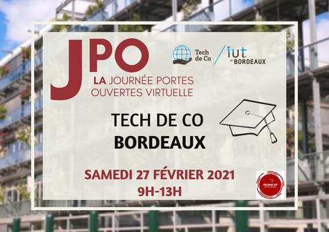JPO virtuelle IUT et Tech de Co Bordeaux
