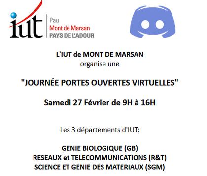 JPO Virtuelles IUT Pau Mont de Marsan
