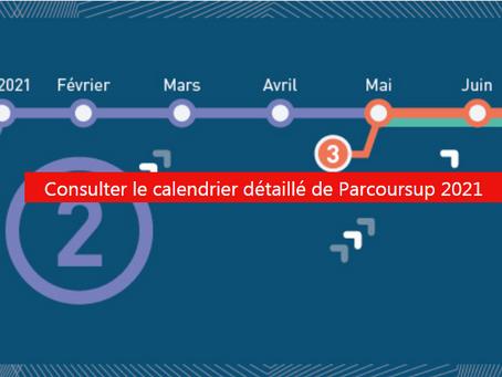 Le calendrier 2021 Parcoursup est disponible