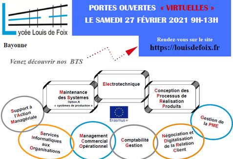 JPO Virtuelles BTS lycée Louis de Foix Bayonne