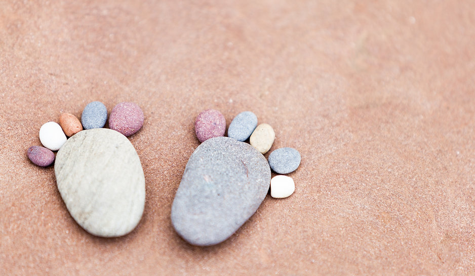 Pebble Feet, Whimsical fun image by Anita Nicholson Phtography