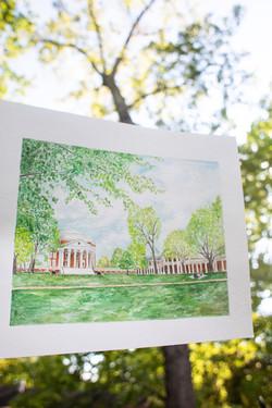 UVA Lawn Watercolor