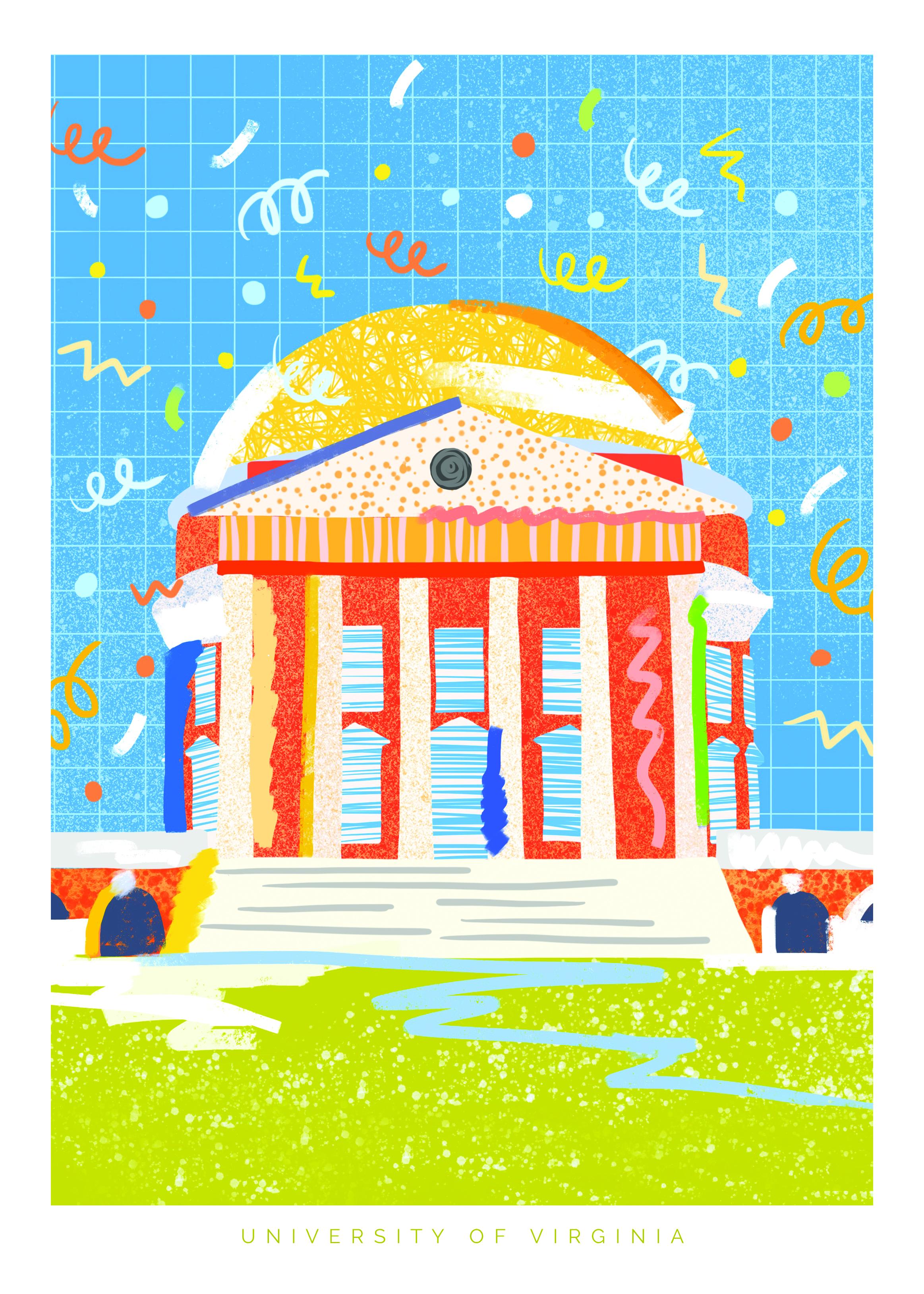 Confetti Rotunda Illustration