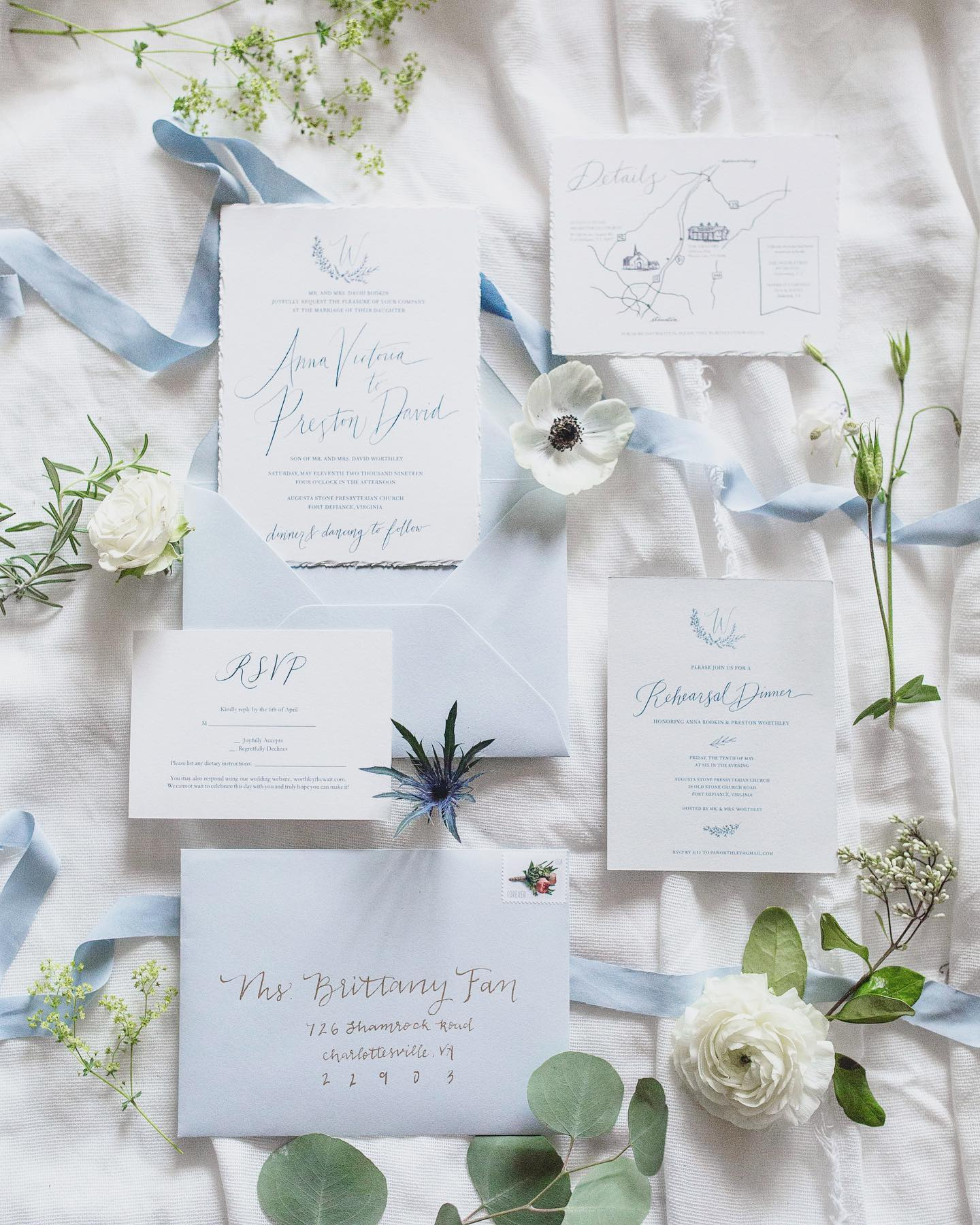 Wedding Invitation Something Blue