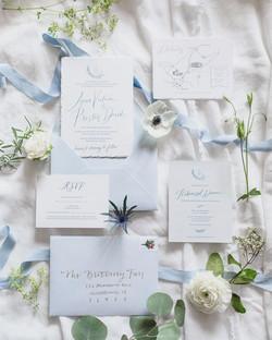 Wedding Invitation Something Blue