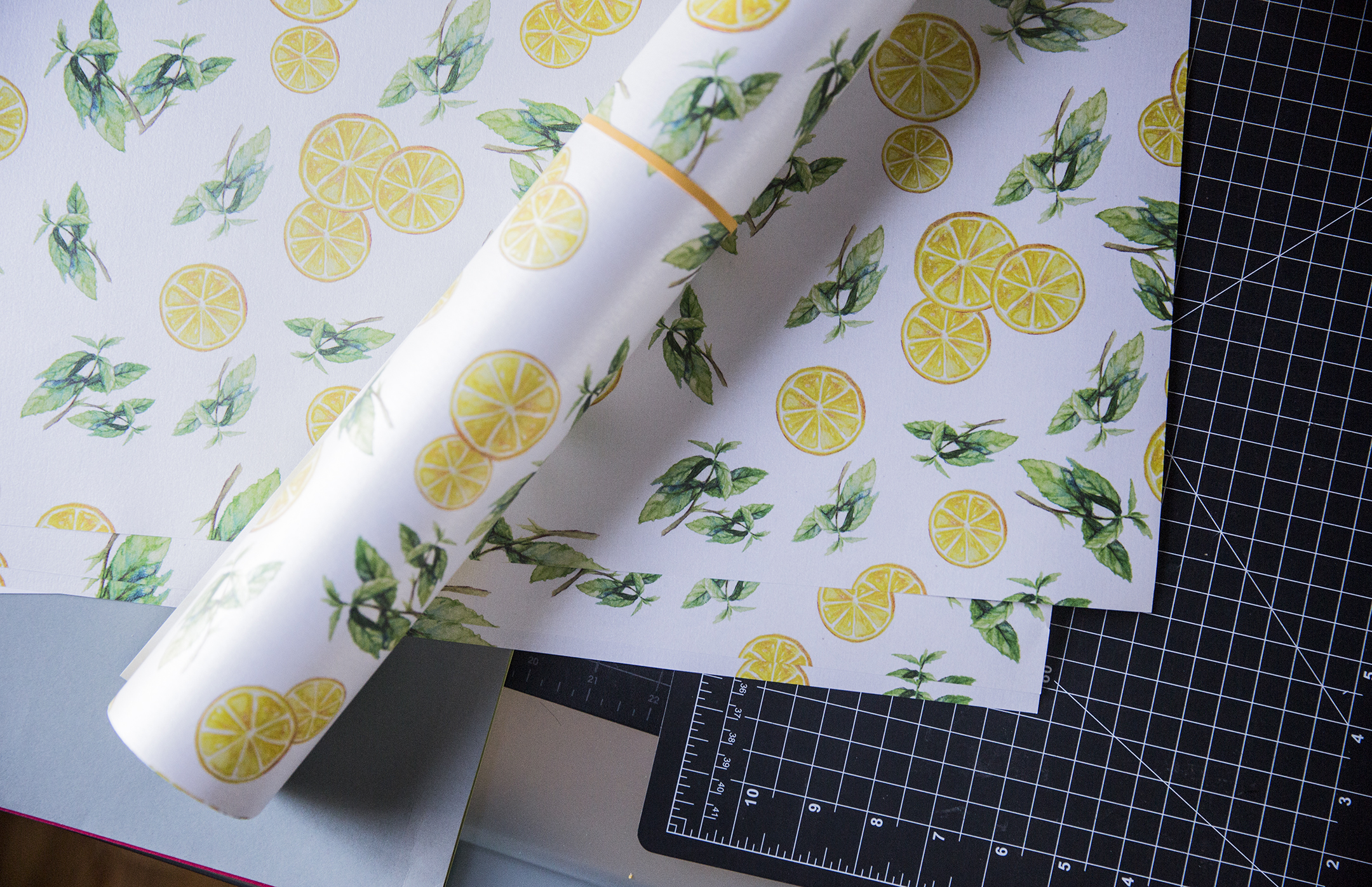 Lemon Mint Wrapping Paper