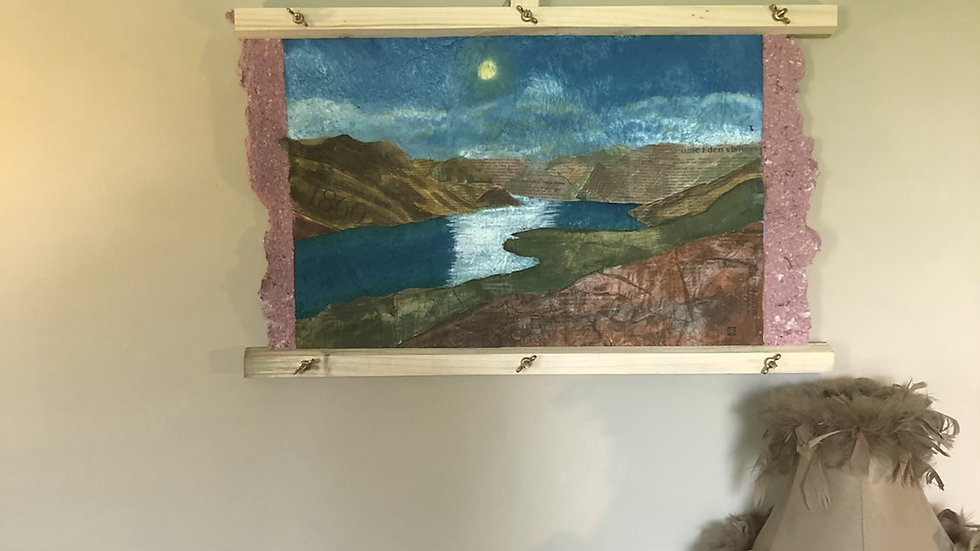 View of Ullswater mixed media