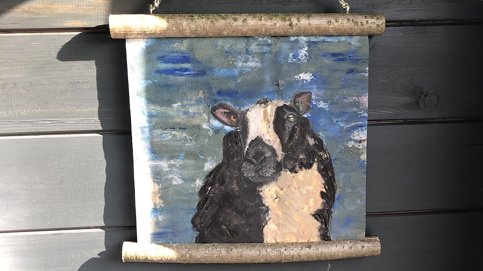 Dutch spotted in oil on recycled paper