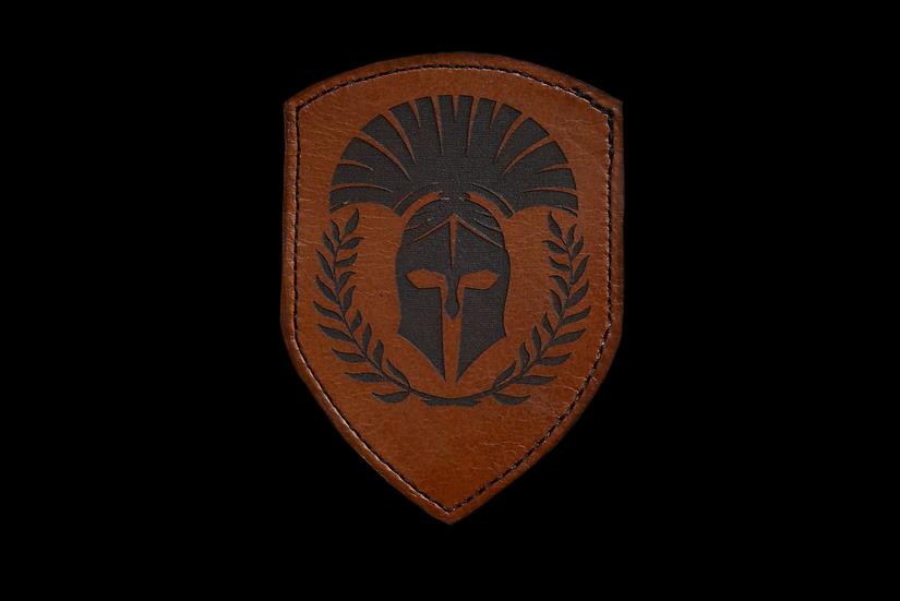 Spartaner Helm Leder Patch