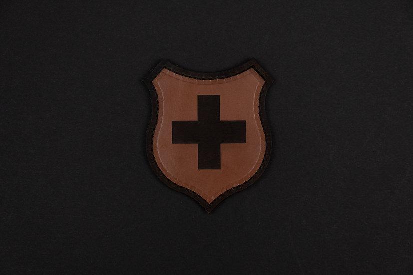 Wappen Schweiz Leder Patch
