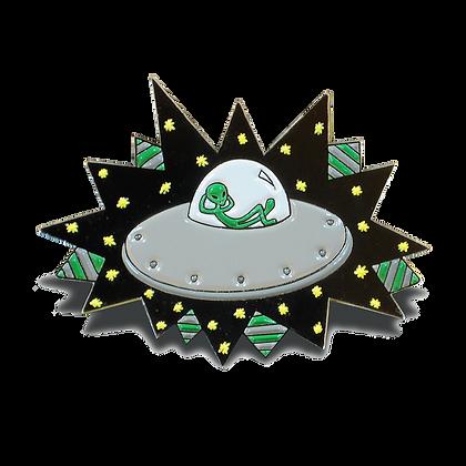 Enamel Pin: Alien UFO