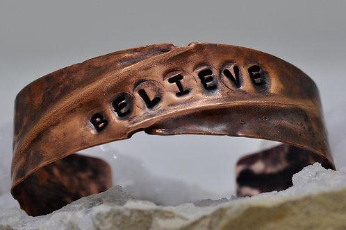 Copper Cuff Believe