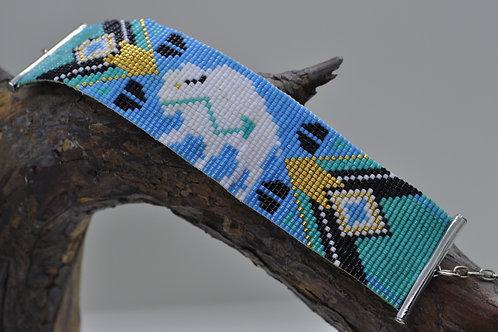 White Buffalo Beaded Bracelet