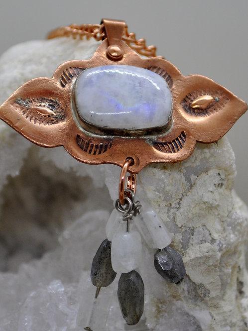 Moonstone Copper necklace