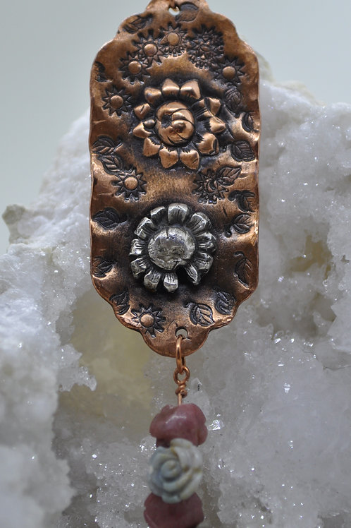 Flower Necklace with Jasper