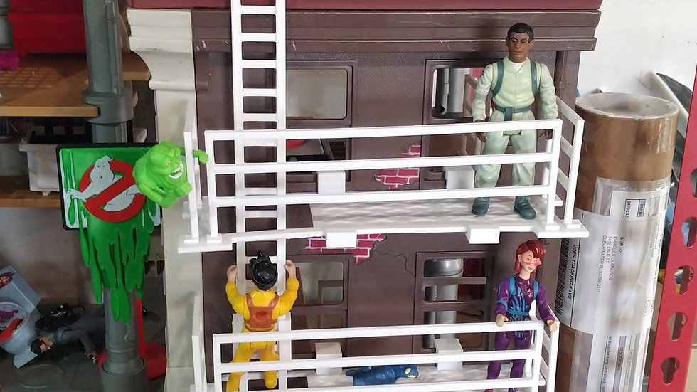 Ghostbusters Firehouse Cat Walk Build On Playset
