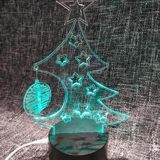 lampada multicolore albero natale