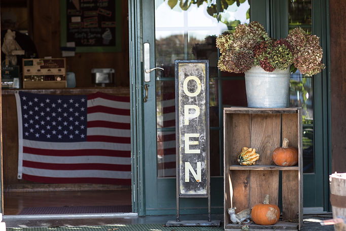A small business is open for business wi