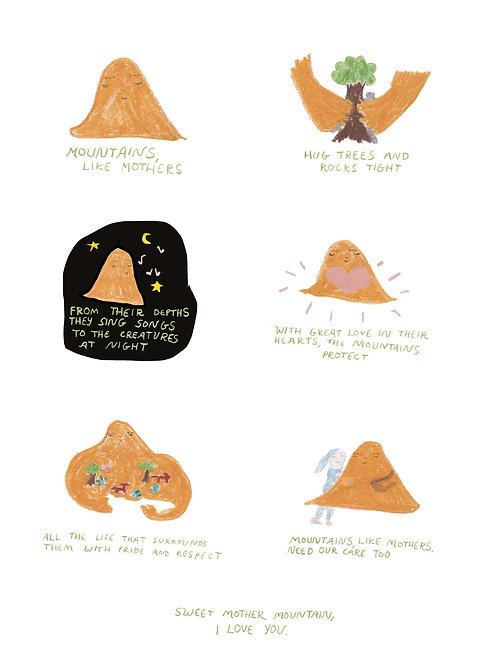 Mother Mountain (A3 Print)