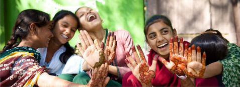Women Celebrate with Henna