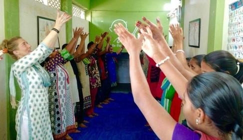 Yoga at Manav Sadhna