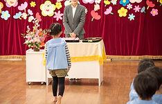 幼稚園の卒業式