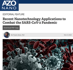 Recent Nanotechnology Applications to Combat the SARS-CoV-2 Pandemic