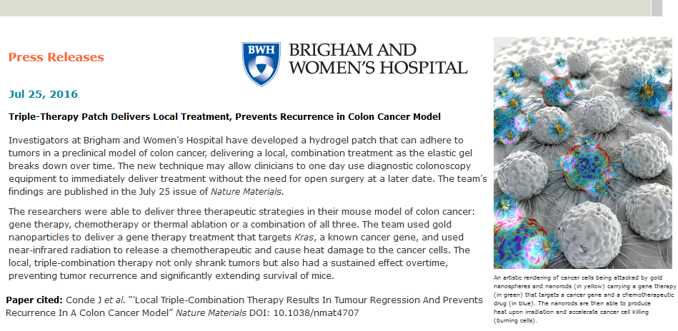 Brigham and Women's Hospital Press Releases
