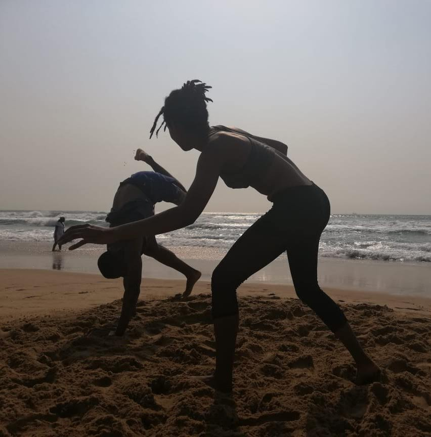 Beach Capoeira session