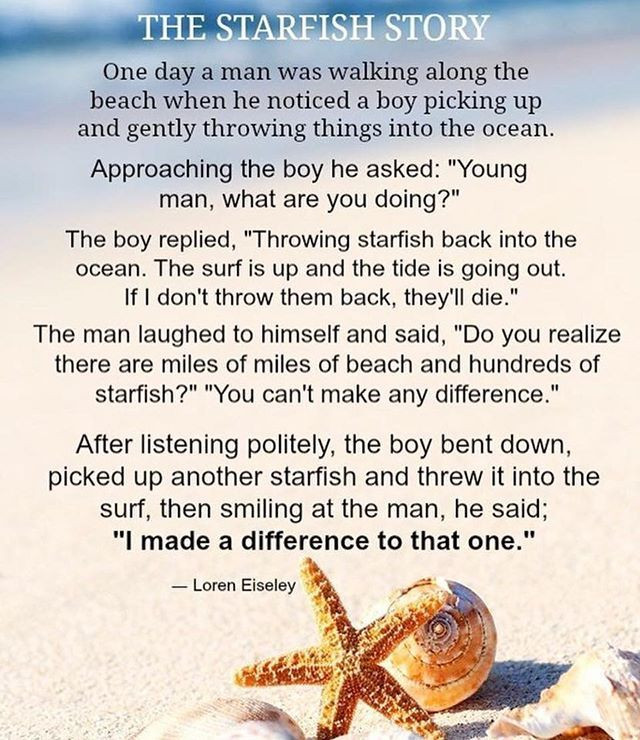 The Starfish Story by Loren Eiseley.