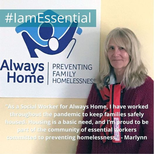 A photo of Marlynn Benker, Always Home's and an essential worker during the pandemic
