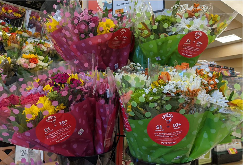 Colorful Stop & Shop Bloomin' 4 Good bouquets