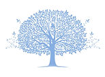 Blue Tree graphic for decoration only.