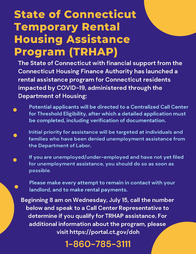State's Rental Housing and Mortgage Assistance Programs open July 15th